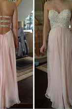 Load image into Gallery viewer, Pink prom Dress charming Prom Dresses Long prom Dress backless prom dress Party dress BD0374