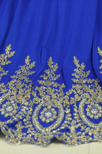 2019 Dark Royal Blue Prom Dresses Scoop Mermaid With Applique Spandex Sweep Train Size 18W