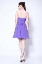 Load image into Gallery viewer, Lovely Halter Neckline Short Chiffon Cute Mini Homecoming Dress Graduation Dress RS124