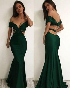 Off the shoulder Charming Long Charming Prom Dresses Evening Dress prom dresses RS856