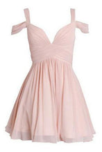 Load image into Gallery viewer, Pink Homecoming Dresses With Silver Beading Short Black Prom Dress RS331