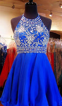 Load image into Gallery viewer, Royal Blue Sparkle Beautiful Chiffon Fashion Beading Sweet 16 Dress RSR67