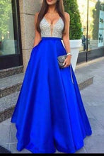 Load image into Gallery viewer, Royal Blue Prom Dress Elegant Prom Dress Long Prom Dresses