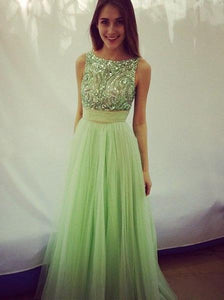 green prom Dress charming Prom Dress chiffon prom dress party dress Long prom dress BD1025