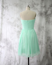 Load image into Gallery viewer, Mint Chiffon Homecoming Dresses Short Bridesmaid Dresses