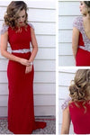 Long Prom Dress Red Prom Dress Party Chiffon Prom Dress Sheath Evening Dress Gown RS706