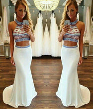 Load image into Gallery viewer, Hot Sale Charming Two Pieces Beading Mermaid Evening Dress Chiffon 2 Pieces Formal Dress RS723