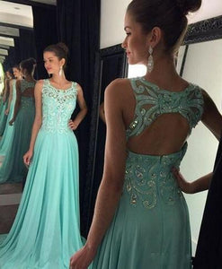 Prom Dresses Hot Simple Teens Fashion Beading Evening Dress Chiffon Prom Gowns RS929