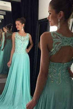 Load image into Gallery viewer, Prom Dresses Hot Simple Teens Fashion Beading Evening Dress Chiffon Prom Gowns RS929