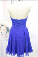Load image into Gallery viewer, Tulle Lace Homecoming Dress Royal Blue Fitted Homecoming Dress Short Prom Dress RS904