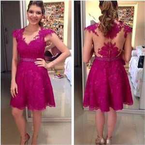 Homecoming Dresses Lace Homecoming Dress Fitted Homecoming Dress Short Prom Dress RS901