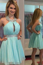Load image into Gallery viewer, Light Blue Homecoming Dress Homecoming Dresses Homecoming Gowns RS889