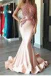 Mermaid Sexy Appliques Long Cheap Evening Dress Formal Women Dress prom dresses F68