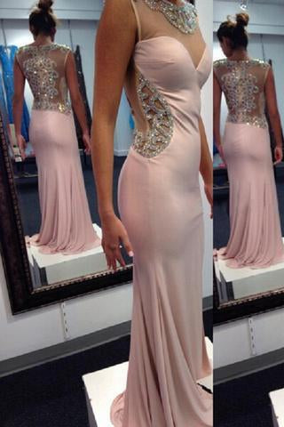 Sexy Prom Dress Chiffon Mermaid Evening Dress Long Evening Gown Prom Dresses RS389