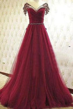Load image into Gallery viewer, Pd61139 Charming Prom Dress Tulle Prom Dress Beading Prom Dress A-Line Evening Dresses uk