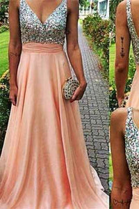 V Neckline Prom Dress Prom Dresses Evening Party Gown Formal Wear RS938