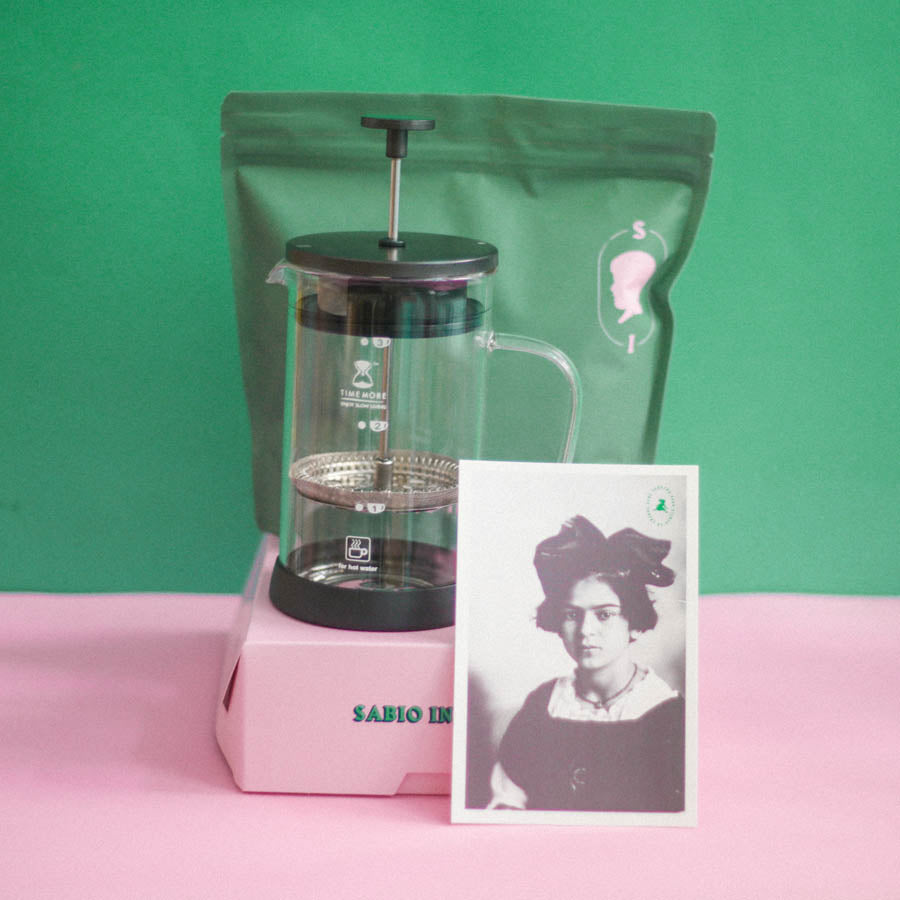 FRENCH PRESS 300ml+500g CAFE SABIO INFANTE