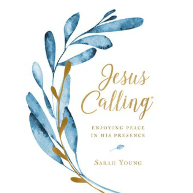 Jesus Calling - Large Text Cloth Botanical Cover