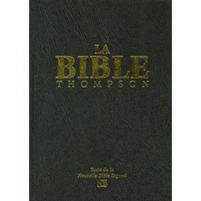 Bible Thompson rigide noir