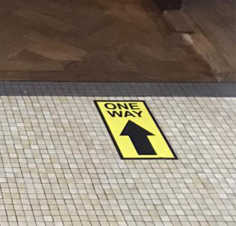 One Way Floor Graphic