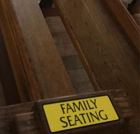 Family Seating Graphic. Non-Laminated