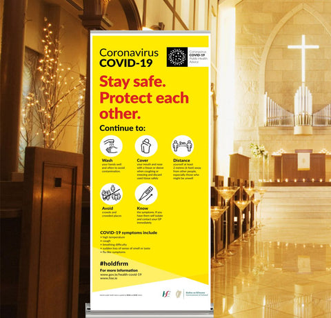 Protect Each Other Pop-Up Banner