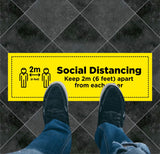 Social Distancing Rectangle Floor Graphic 2
