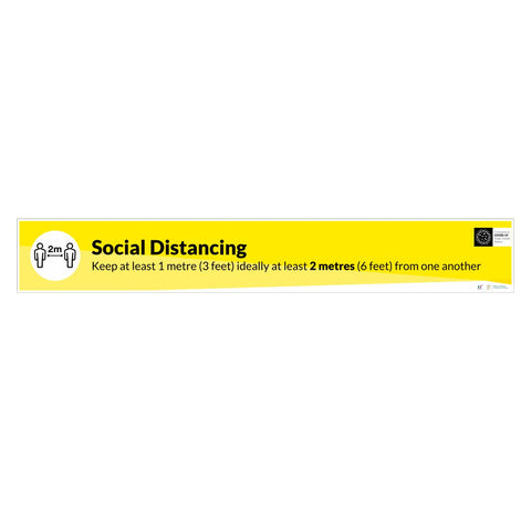 Social Distancing 2m Floor Graphic