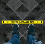 2 Metre Clearance Zone Floor Graphic
