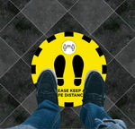 Keep a Safe Distance Floor Graphic