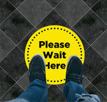 Please Wait Here Circle Floor Graphic