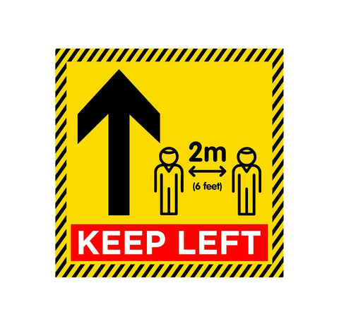 Keep Left Floor Graphic