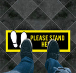 Please Stand Here Floor Graphic