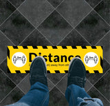 Social Distancing Rectangle Floor Graphic 1
