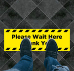 Please Wait Here Rectangle Floor Graphic
