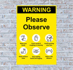 Warning Please Observe Poster