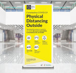 Physical Distancing Pop-Up Banner