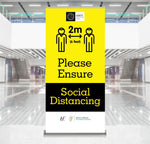 Ensure Soical Distancing Pop-Up Banner