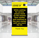 Stand on Marker Pop-Up Banner