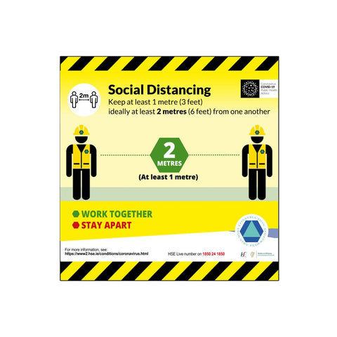 Social Distancing 2m Safety Sign