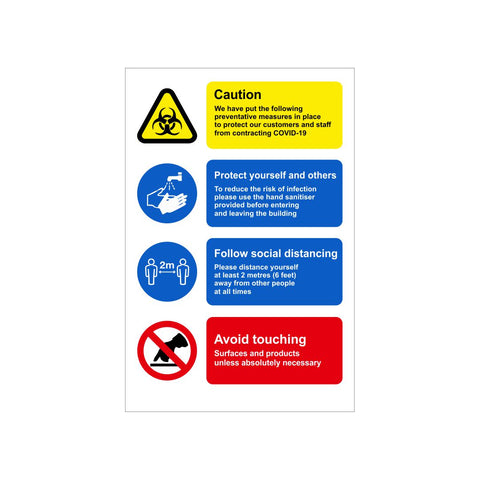 Caution Preventive Measures Safety Sign