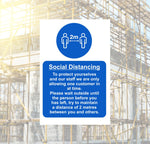 Social Distance Protect Yourself Safety Sign