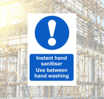 Hand Sanitiser Safety Sign