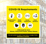 Covid-19 Requirements Safety Sign