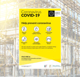 Prevent Covid-19 Safety Sign