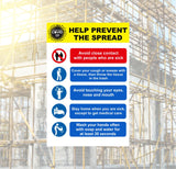 Help Prevent the Spead Safety Sign