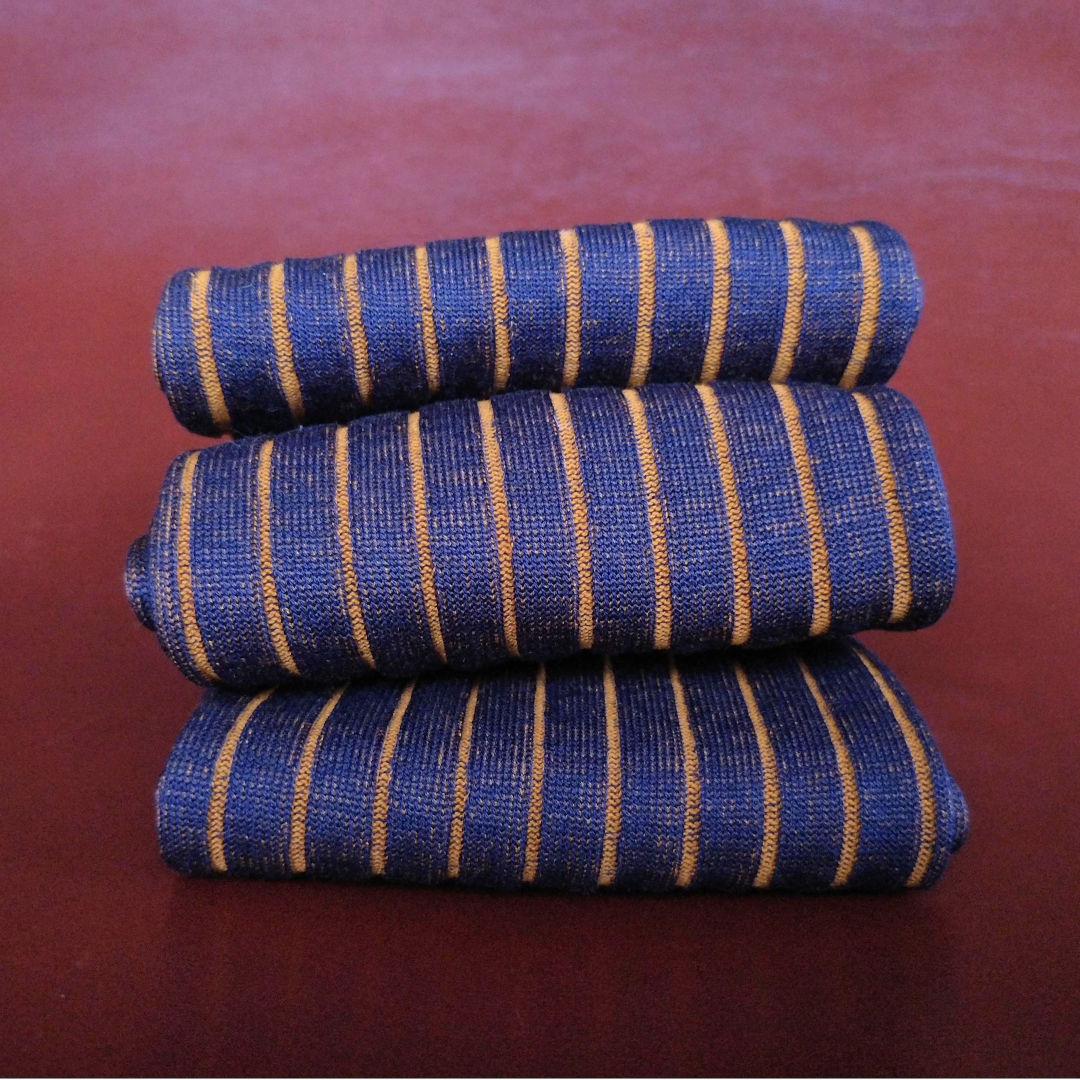 Fumu Striped Cotton Socks