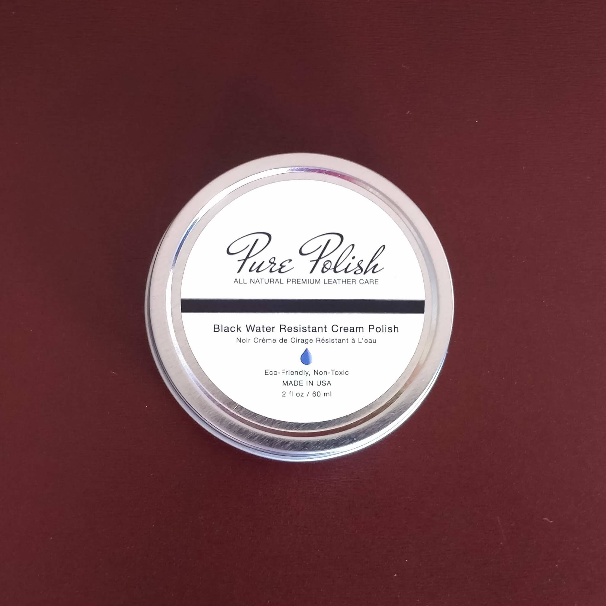 Purepolish  Water Resistant Shoe Cream Polish in Black by Fumu
