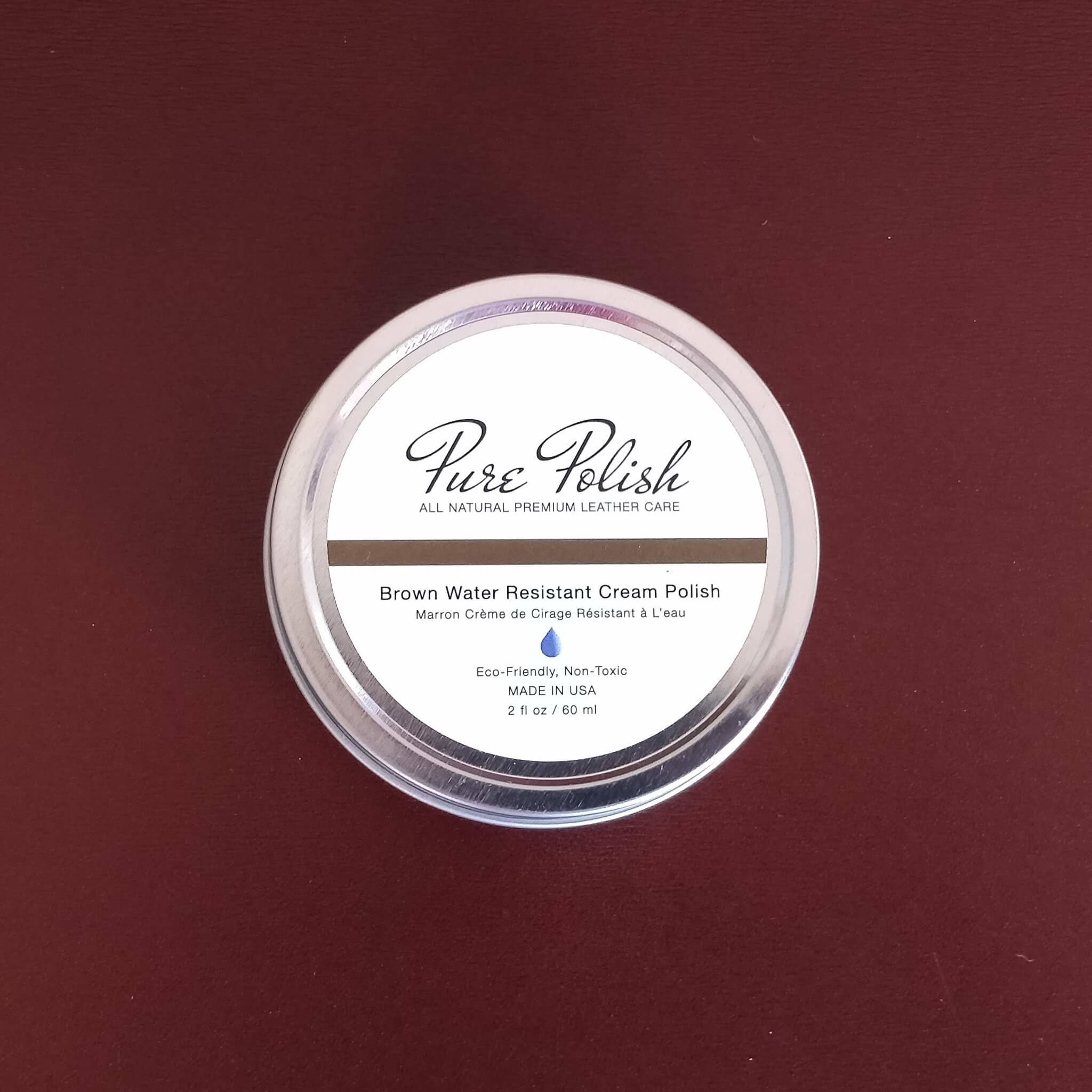 Purepolish  Water Resistant Shoe Cream Polish in Brown by Fumu