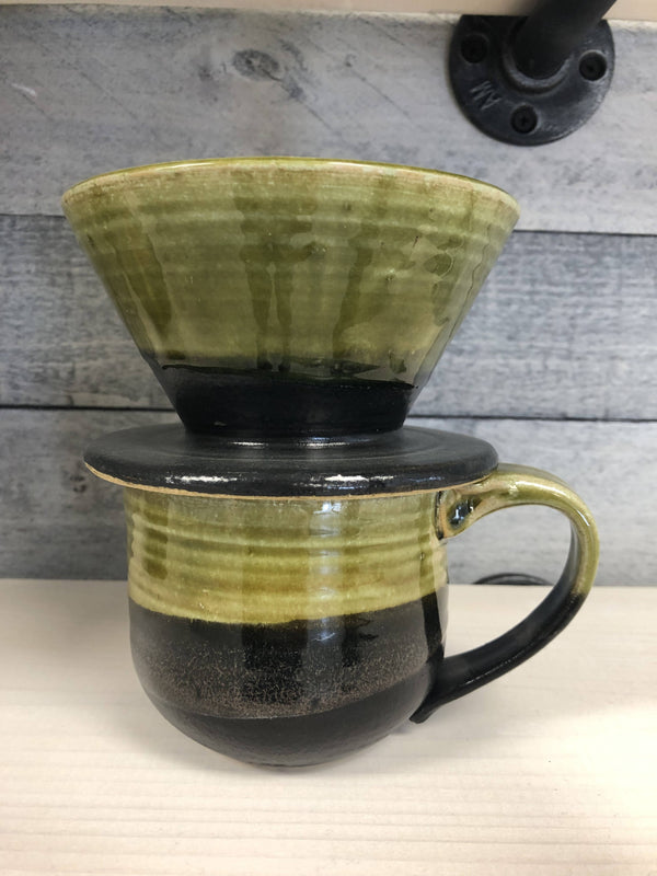 Pour-over set Green/black